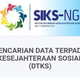 Data Terpadu Kesejahteraan Sosial (DTKS)